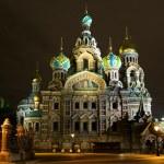 Church of the Savior on Blood. Night St. Petersburg. Russia — Stock Photo