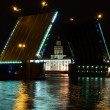 Stock Photo: Palace Bridge on River Nevnight. Saint-Petersburg. Russia