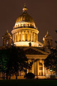 Night View of St. Petersburg. St. Isaac's Cathedral. Russia — Stock Photo
