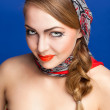 Young woman in a headscarf in the Russian style. — Stock Photo #9889373