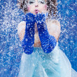 Beautiful girl like Snow White — Stock Photo