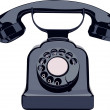 Vintage phone — Stock Vector