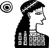 Ancient Greece lady — Stock Vector