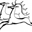 Royalty-Free Stock Vectorafbeeldingen: Two beautiful deers