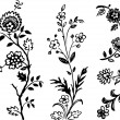 Floral decorative elements — Vector de stock