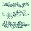 elementos decorativos florales — Vector de stock