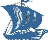 Sailboat — Stock Vector