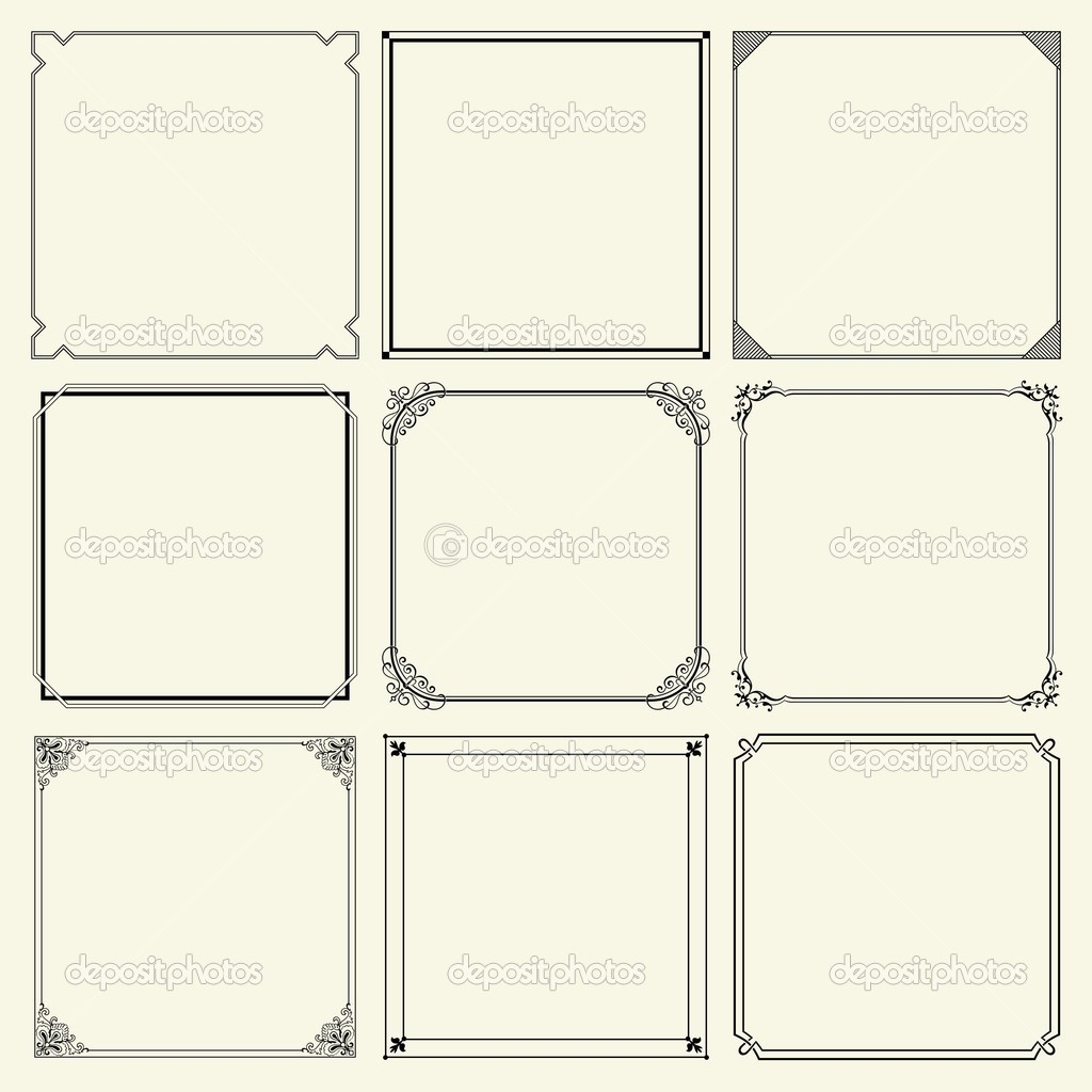 Nine decorative frames  — Stock Vector #10376919