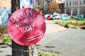 Occupy Louisville Protest — Stock Photo