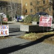 Occupy Louisville Protest Site — Stock Photo