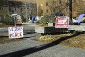 Occupy Louisville Protest Site — Stock Photo