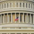 Flag on dome of US Capitol Building — Stock Photo
