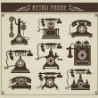 Stock Vector: Vintage phones