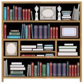 Vector bookcase — Stock Vector