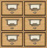 Wooden furniture — Stock Vector