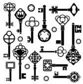 Set of keys — Stock Vector