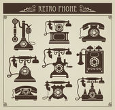 Vintage phones — Stock Vector