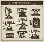Vintage phones — Stock Vector