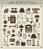 Vintage objects — Stock Vector