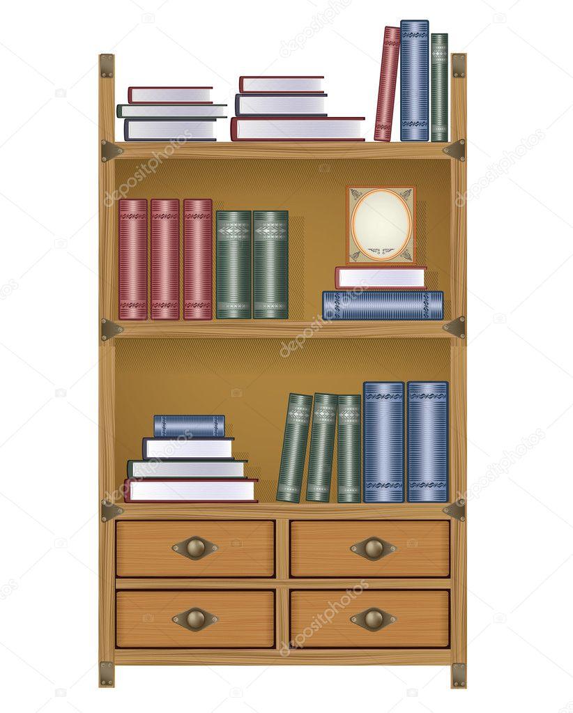 Книжная полка bекторные иллюстрации, векторных рисунков и кл.