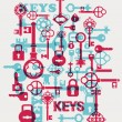Vector locks — Stock Vector