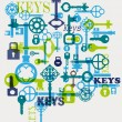 Stock Vector: Vector keys