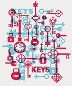 Vector locks — Stock Vector