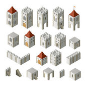 Medieval buildings — Stock Vector