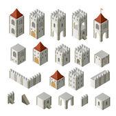 Medieval buildings — Stock Vector