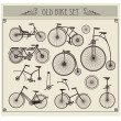 Old bikes — Stock Vector #8420677