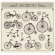 Stock Vector: Old bikes