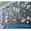 Royalty-Free Stock Vektorfiler: Isometric map