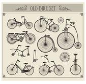 Old bikes — Stock Vector