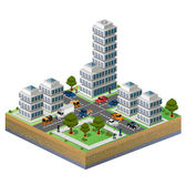 Isometric city — Stock Vector