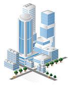 Vector tall buildings — Stock Vector