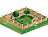 Urban garden — Stock Vector