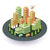 Stadt in isometrische ansicht — Stockvektor