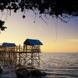 Stock Photo: Beach Nipa Huts
