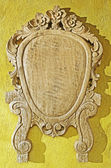 Frame on Yellow Wall — Stock Photo