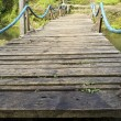 Wooden Suspension Bridge — Stock Photo