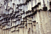 Hanging basalt columns — Stock Photo