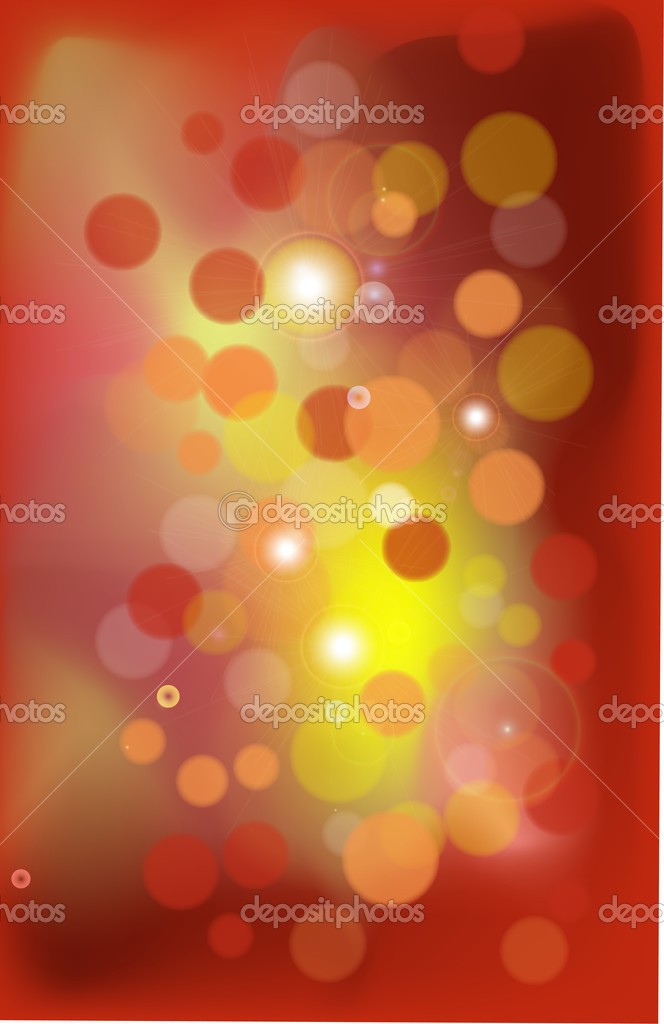 Christmas lights in a red background — Stock Vector #8165228