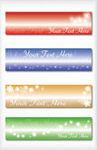 Coloured bookmarks — Stock Vector