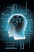 Mecanismo de la mente — Vector de stock