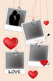Pendant love photos — Stock Vector