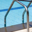 Stock Photo: Swimming pool and handrail