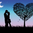 Romantic scene - Stock Vector