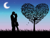 Romantic scene — Stock Vector