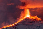 Eruption Etna — Stock Photo