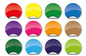 Set of coloured circle icons — Stock Vector